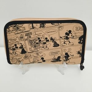 Vintage DISNEY Mickey Mouse Comic Strip Wallet